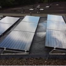 Vervolgens zonnepanelen geplaatst